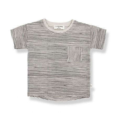 Camiseta M/C rallitas BERNAT de bebé en STONE