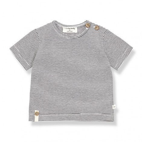 Camiseta manga corta BLAI de bebé en ANTRACITA
