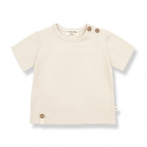 Camiseta manga corta BLAI de bebé en BEIGE