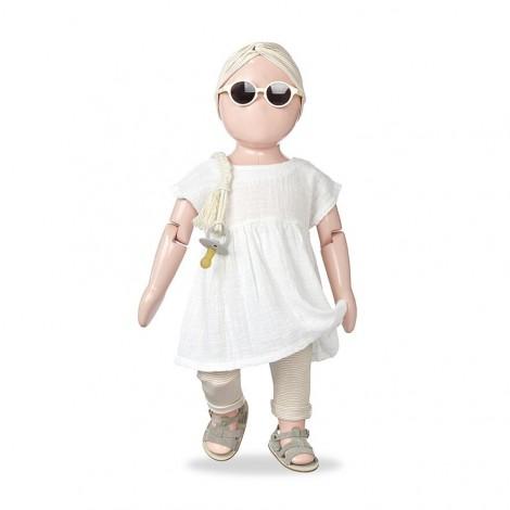 Vestido BRUNA de bebé en CRUDO