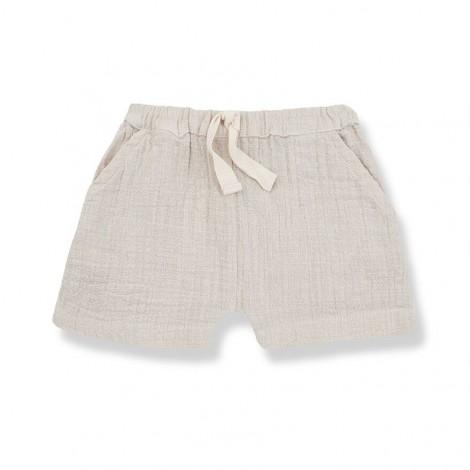 Pantalón corto bermuda CARME de bebé en BEIGE