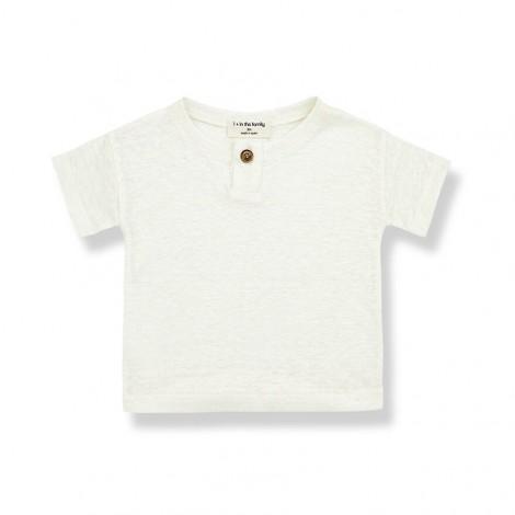 Camiseta manga corta FELIX de bebé en CRUDO