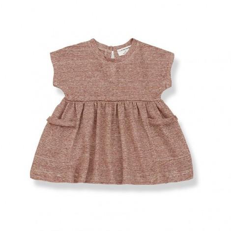 Vestido bolsillos ISOLDA de bebé en ROIBOS