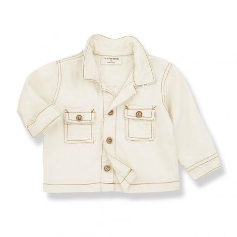 Camisa cubre JOB de bebé en NATURAL