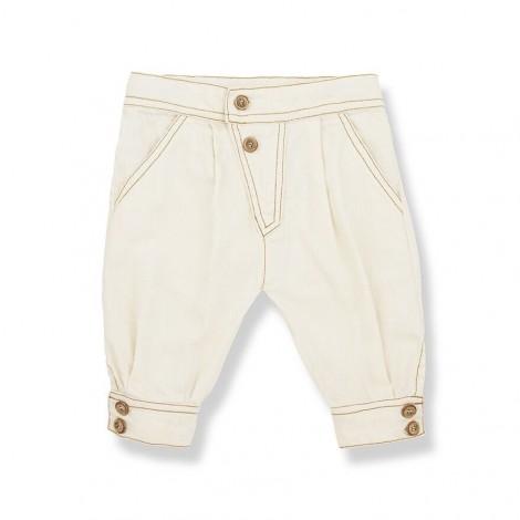Pantalón femenino JULIA de bebé en NATURAL