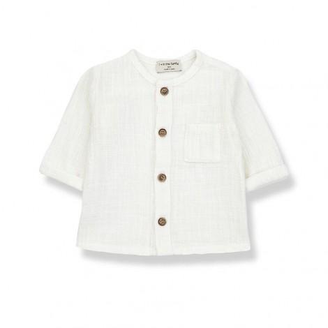 Camisa manga larga MAURI de bebé en CRUDO