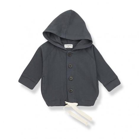 Chaqueta capucha OTTO de bebé en ANTRACITA
