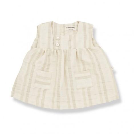 Vestido SILVIA de bebé en NATURAL
