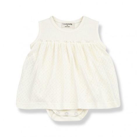 Vestido Body SYBILLA de bebé en CRUDO