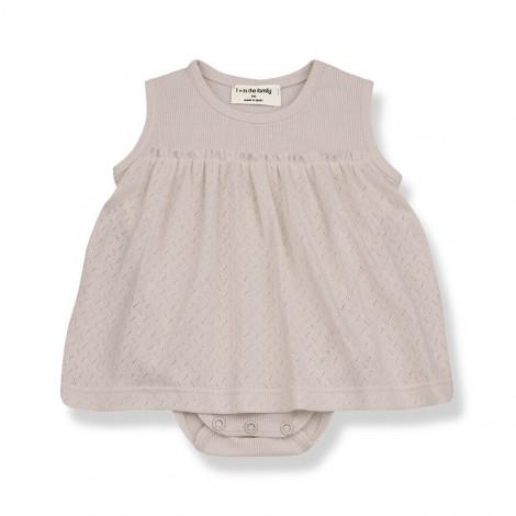Vestido Body SYBILLA de bebé en NUDE