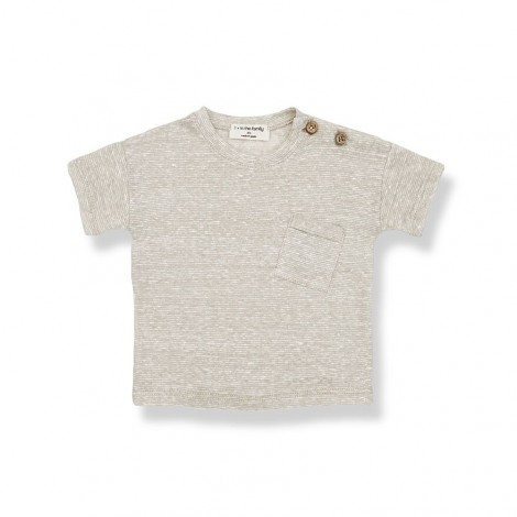 Camiseta M/C rallitas VICTOR de bebé en CRUDO