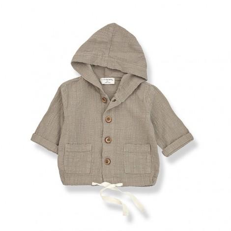 Chaqueta capucha YAGO de bebé en KAKI