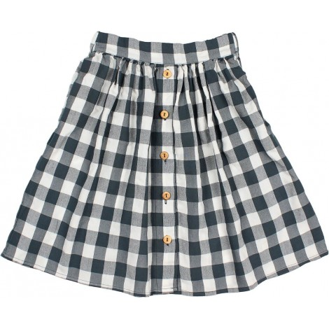 Falda niña BROOKE GINGHAM en BLUE NIGHT