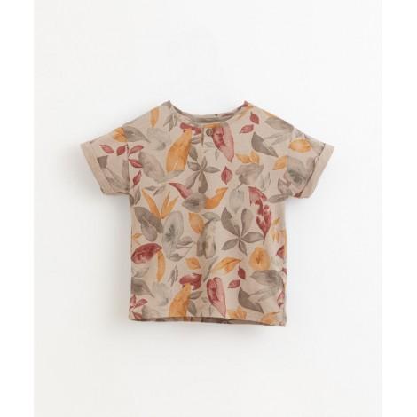 Camiseta niño estampado hojas en BICHO