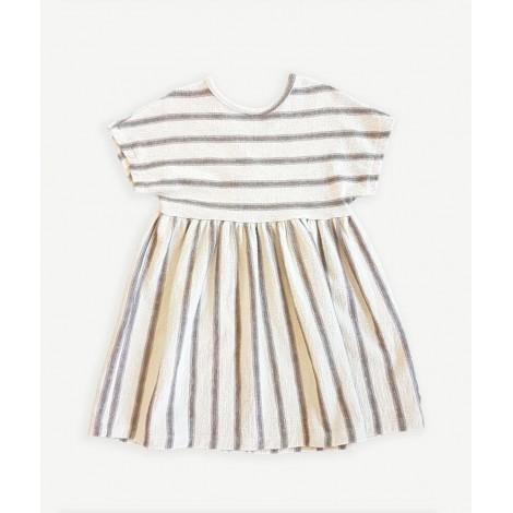 Vestido niña de punto con rayas en PINHA