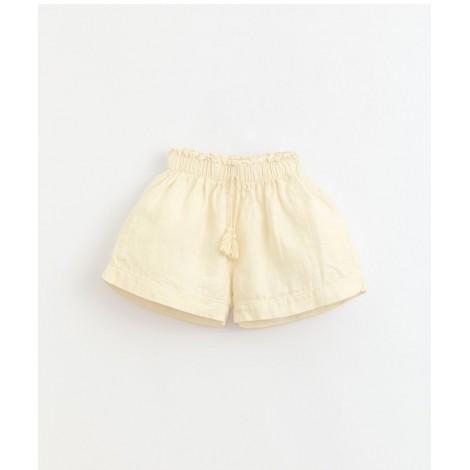 Pantalón corto niña pompón lino en DANDELION
