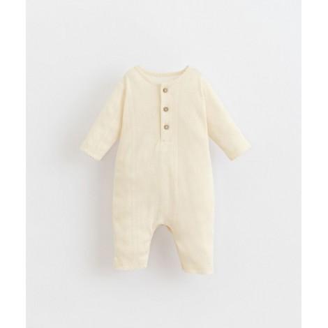 Pelele bebé básico con encajes en DANDELION
