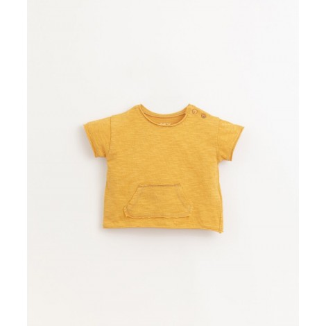 Camiseta bebé bolsillo flamé en SUNFLOWER