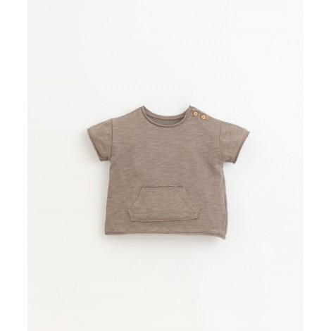 Camiseta bebé bolsillo flamé en HEIDI