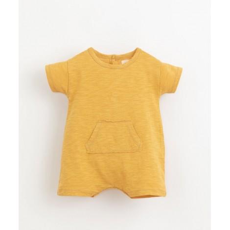 Pelele bebé corto con bolsillo  en SUNFLOWER