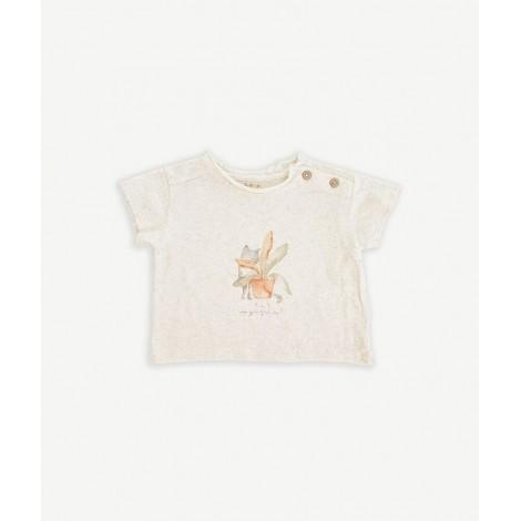 Camiseta bebé botones en MUSHROOM