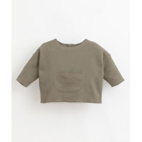 Jersey fino bolsillo textura en COCOON