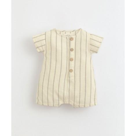 Pelele bebé corto botones coco en DANDELION
