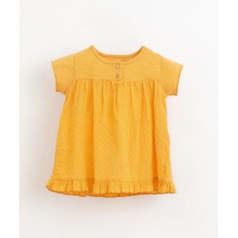 Vestido bebé en tejido mixto en SUNFLOWER
