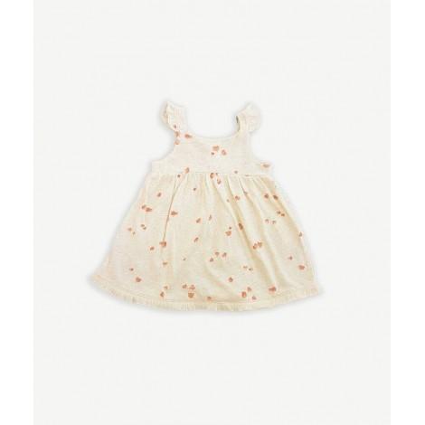 Vestido bebé tirantes con  flecos en MUSHROOM