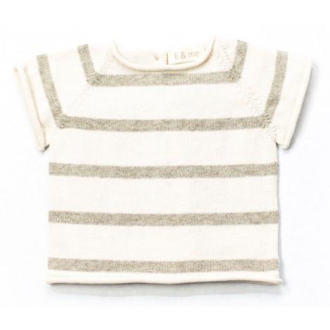 Jersey bebé tricot manga corta AIRON rayas STONE