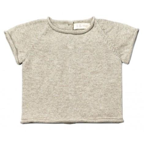 Jersey bebé tricot manga corta JAN en STONE