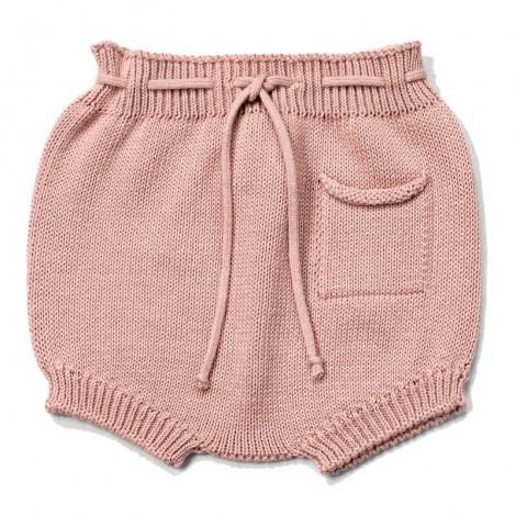 Cubrepañal bebé tricot bóxer KHALO en PALE ROSE