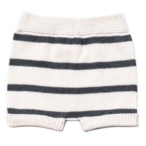 Pantalón corto bebé tricot TEO rayas DARK GREY