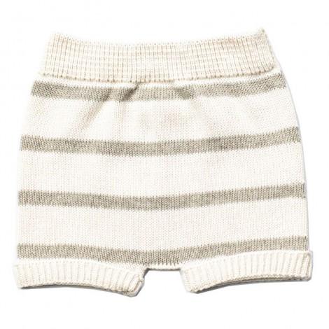 Pantalón corto bebé tricot TEO rayas STONE