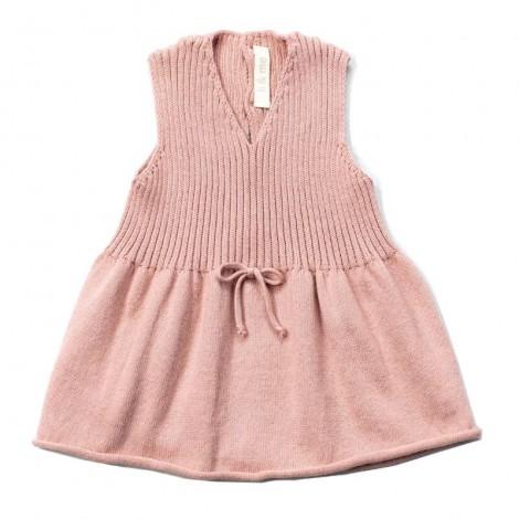 Vestido bebé EMILY PALE ROSE lazo sin mangas