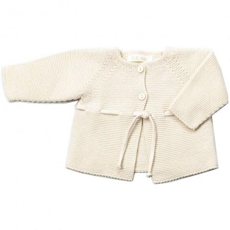Chaqueta bebé VIOLETA tricot en CREAM