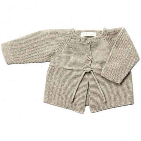 Chaqueta bebé VIOLETA tricot en STONE