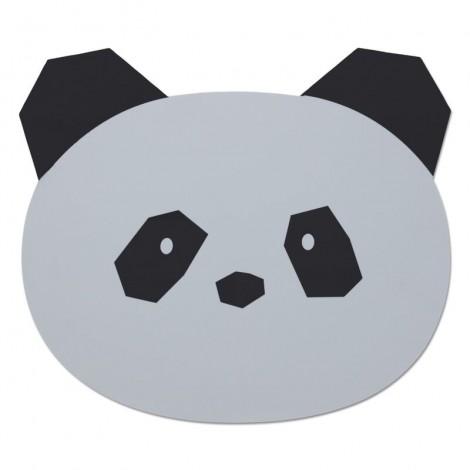 Mantel bebé individual Aura Panda dumbo grey