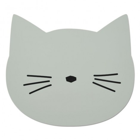 Mantel bebé individual Aura Cat dusty mint