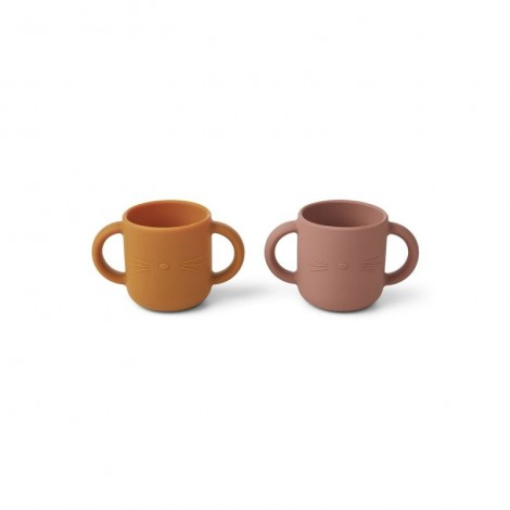 Vaso de silicona gene - Pack de 2 Cat dark rose