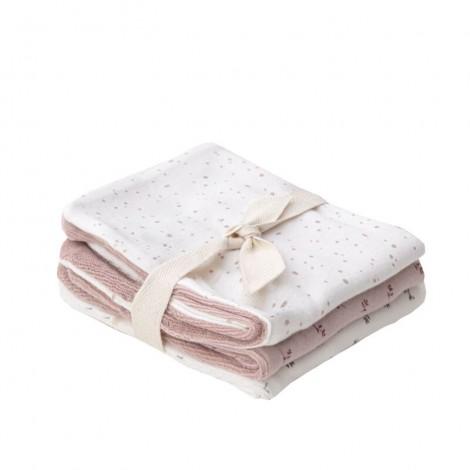 Pack x 3 toallas lactancia bebé MULTI BLOOM