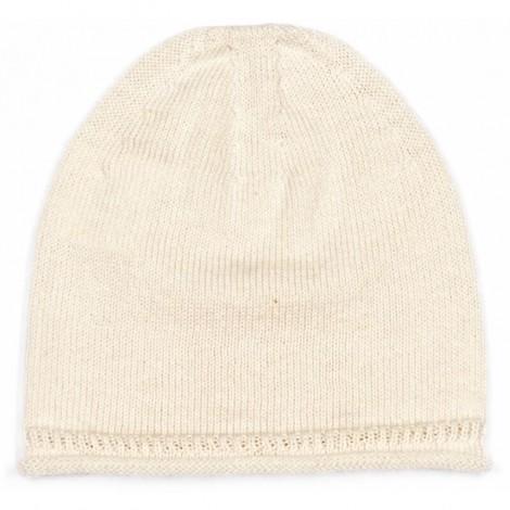 Gorro bebé JON CREAM punto liso algodón 100%