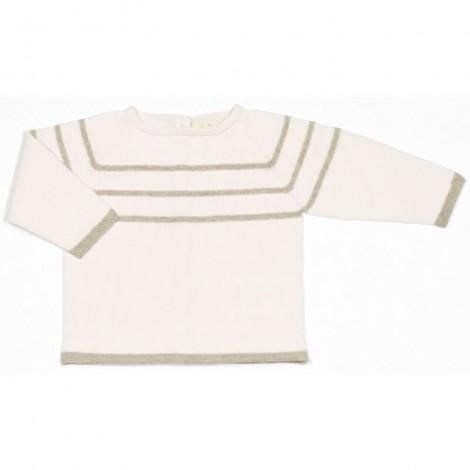 Jersey bebé tricot OMAR crema raya STONE