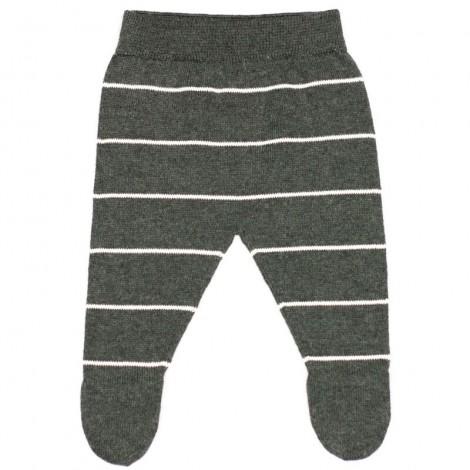 Pantalón bebé polaina RAY DARK GREY rayitas