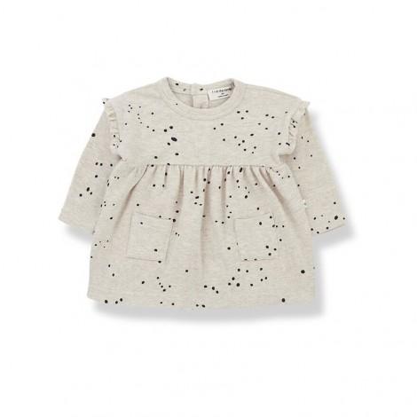 Vestido puntitos AITANA de bebé en ALABASTRO