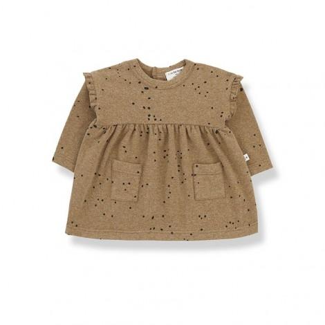 Vestido bolsillos puntos AITANA de bebé en BRANDY