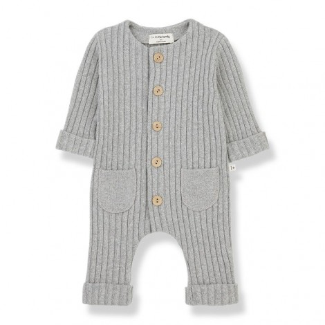 Pelele bolsillos ALAIN de bebé en GRIS