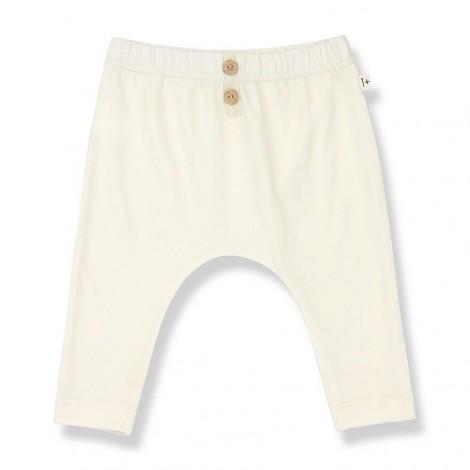 Pantalón leggings CELINE de bebé en CRUDO