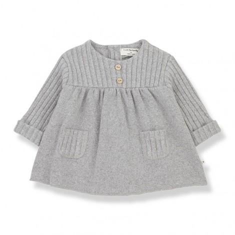Vestido CINTIA de bebé en GRIS