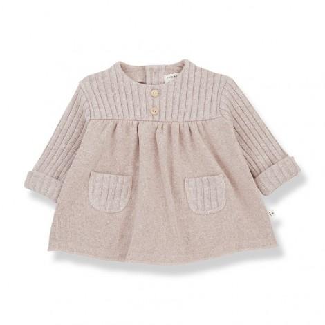 Vestido CINTIA de bebé en NUDE